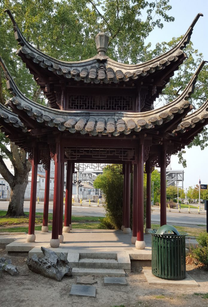 Chinese Friendship Pavilion in downtown Kent, Washington