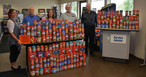Local Ford Dealers Participate in Peanut Butter Drive