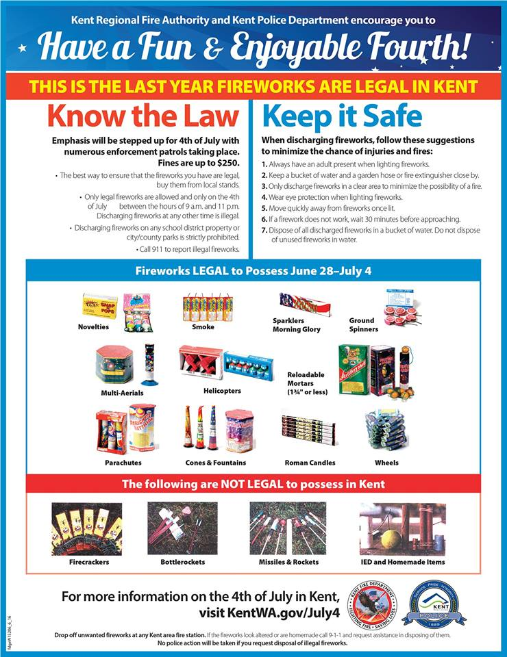 Kent Regional Fire Authority Shares 2016 Fireworks Rules