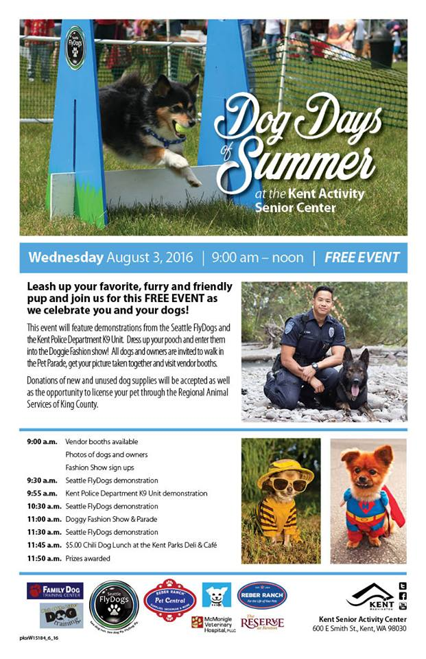 Free Kent Events: Dog Days of Summer at Kent Senior Activity Center