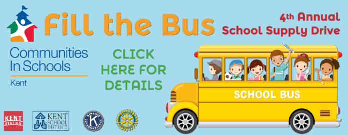Kent Event: Communities in Schools Fill the Bus School Supply Drive