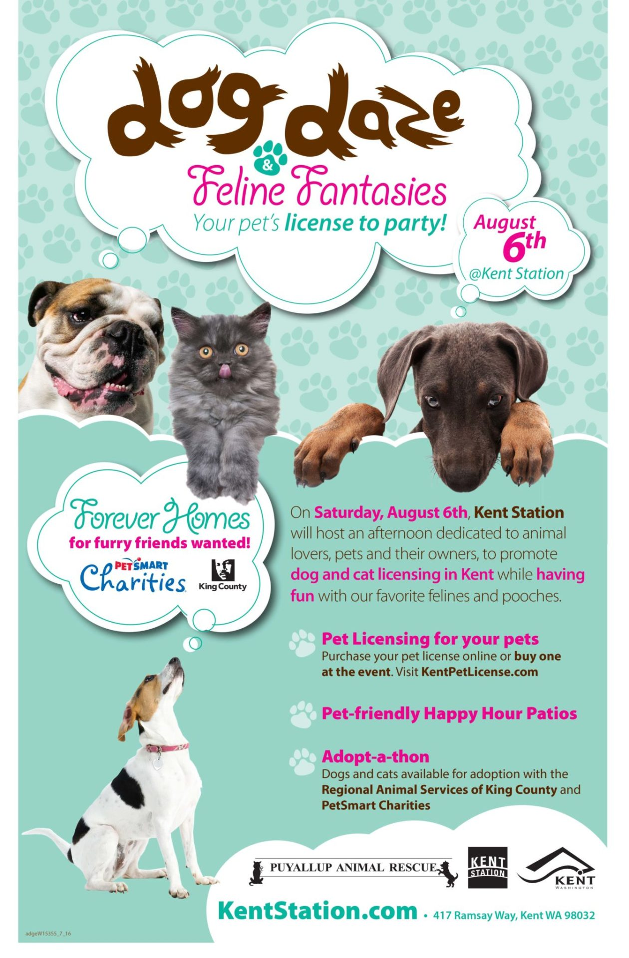 Kent Event: Dog Daze & Feline Fantasies at Kent Station August 6