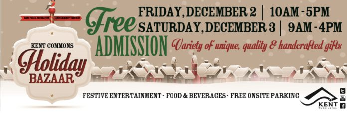 Kent Event: Kent Commons Holiday Bazaar, Dec. 2-3, 2016