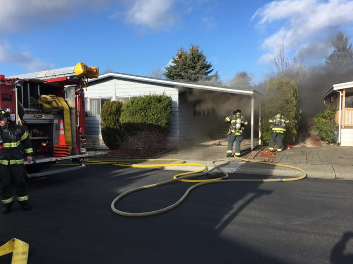 Kent News: Mobile Home Fire Damages Double-Wide