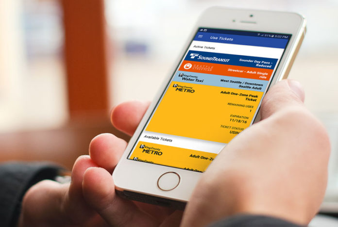 King County Metro riders can now pay for transit tickets from their mobile devices with the Transit GO Ticket app.