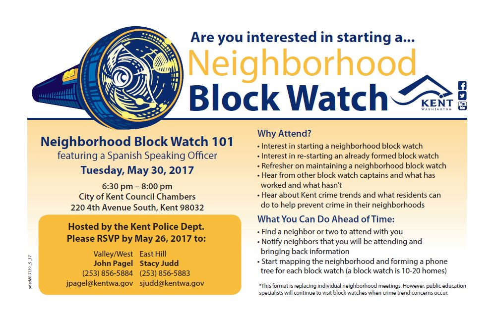 Kent Neighborhood Block Watch