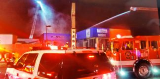 Two Alarm Fire Destroys Commercial Building