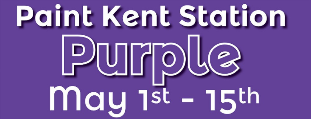 Kent Station Goes Purple May 1-15