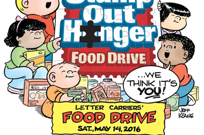 Help Stamp Out Hunger, Sat., May 14