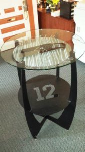 Bid on this custom-made Seattle Seahawks cocktail table at KDP's annual dinner auction on Sat., June 3, 2016!