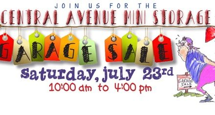 Central Avenue Mini Storage Annual Garage Sale: July 23
