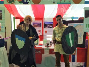 Derek Ralph and Ross Principe at the Norway booth at the Kent International Festival