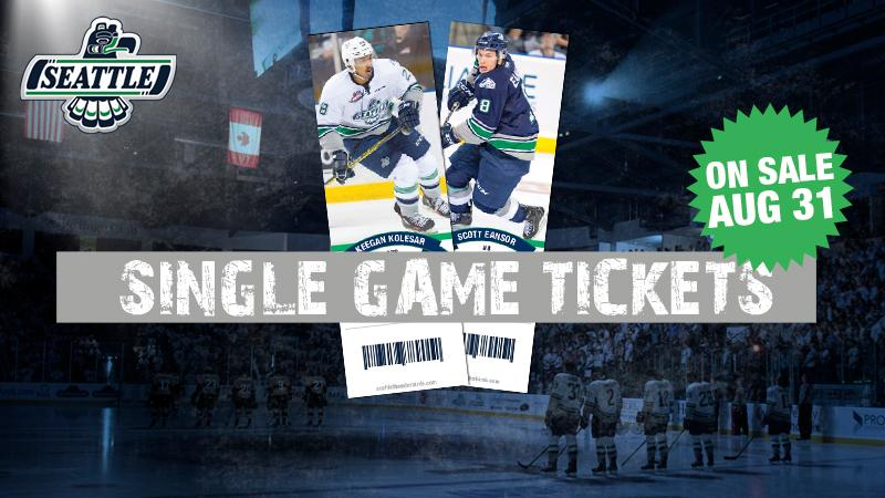 Seattle T-Birds Single-Game Hockey Tickets Now on Sale