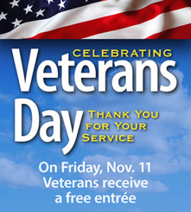 Ivar's offers veterans a free meal on Veteran's Day.