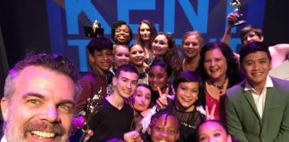 Kent Event: Emcee Bender Cunningham, 106.1 KISS FM, Takes Selfie at Kent Has Talent.