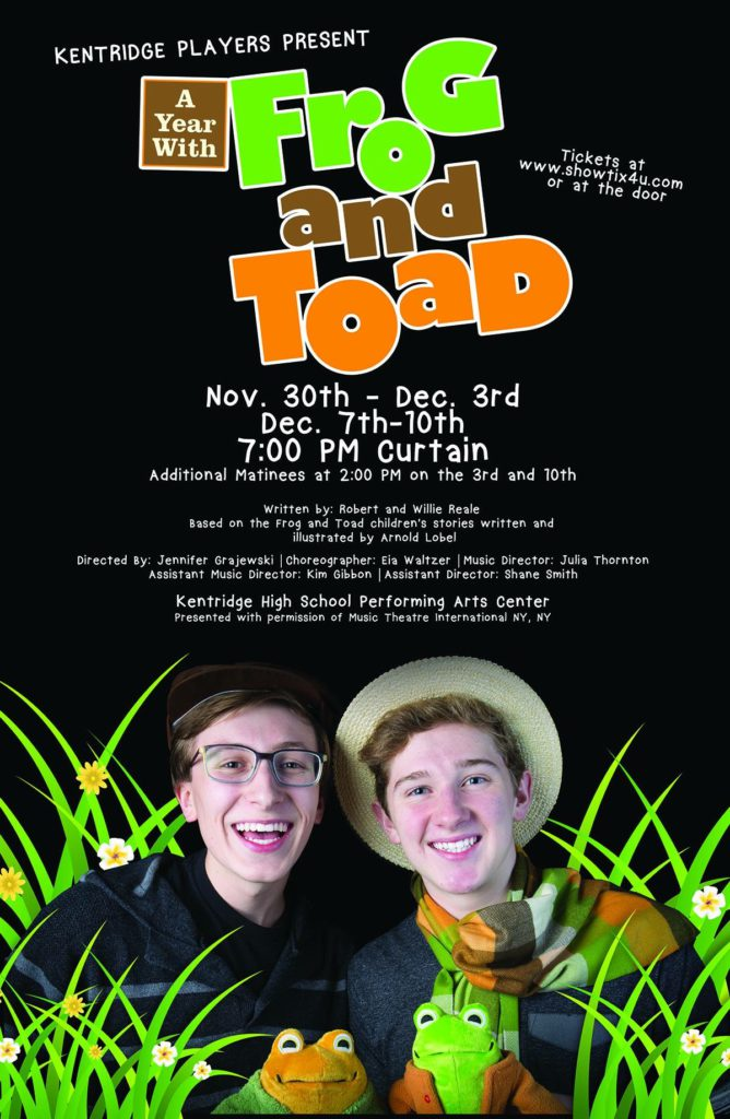 Kent Event: Kentridge HS Performs 'A Year with Frog and Toad'