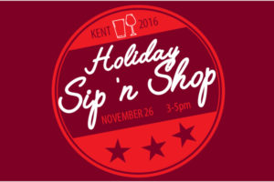 Kent Event: Holiday Sip 'n Shop on Sat., Nov. 26, 2016