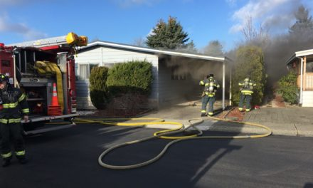 Kent Mobile Home Fire Damages Doublewide