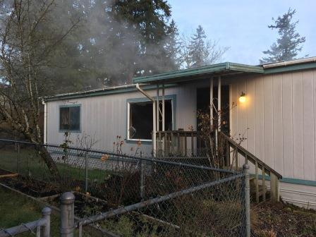 Man Rescued from Kent Mobile Home Fire