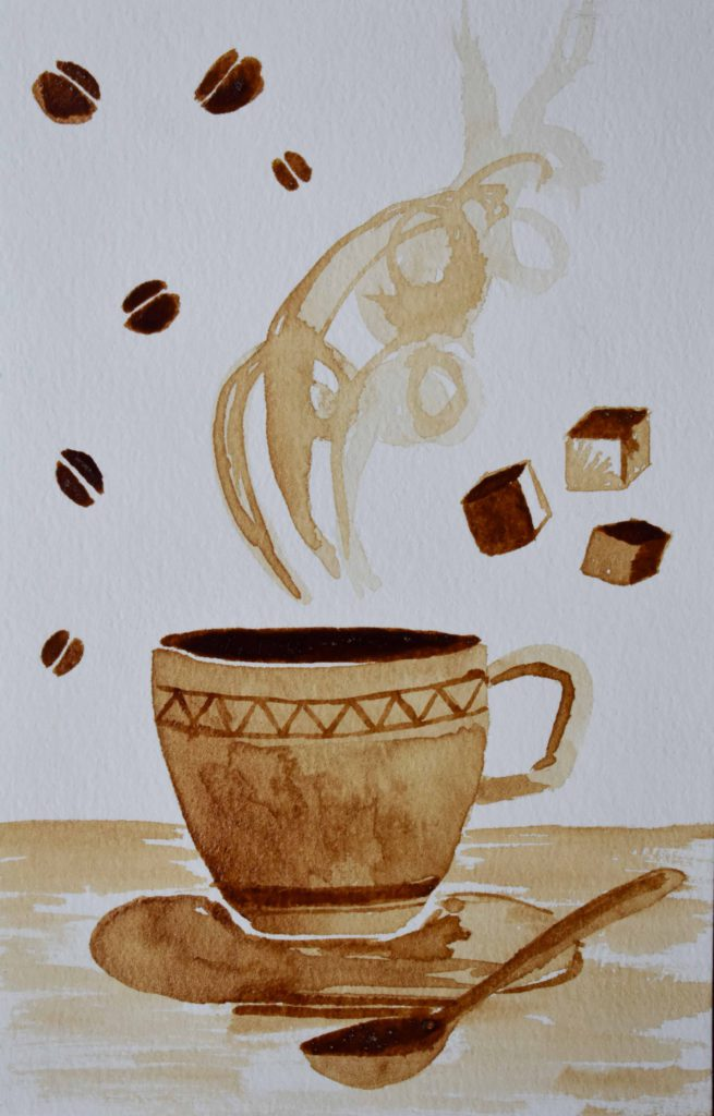 Coffee Painting by Wen Quian Chua