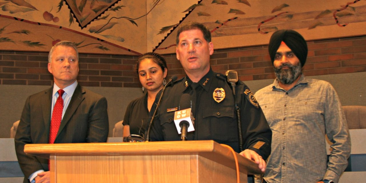Kent PD and FBI Provide Update on Hate Crime, Ask for Public's Help