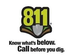 April is Washington State Safe Digging Month. Calll 8-1-1 2 business days before you dig.