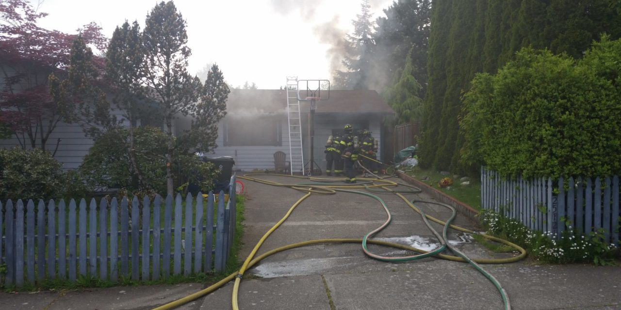 Firefighters Respond to Fire in Converted Garage on East Hill