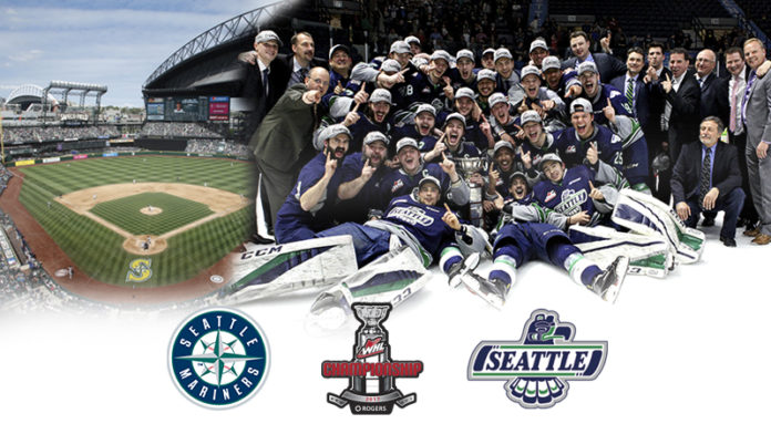 The Seattle Mariners will honor the WHL champions, the Seattle Thunderbirds, at the June 10 game at SAFECO.