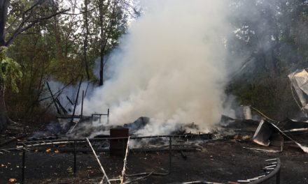 Barn Fire in Ravensdale