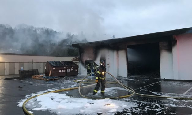 Kent Commercial Building Fire