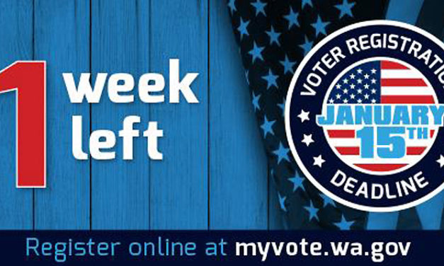 Deadline to register online to vote is Monday, Jan. 15