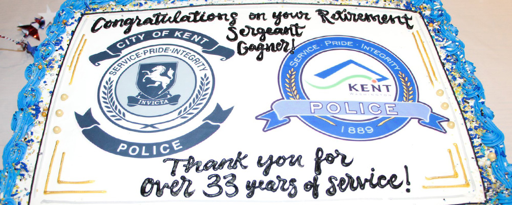 PHOTOS: Sgt. Joe Gagner retires from Kent Police after over 33 years of service