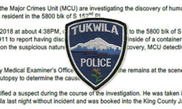 Man arrested after human remains found in Tukwila Thursday