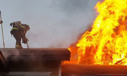 Two alarm blaze torches apartment complex Friday