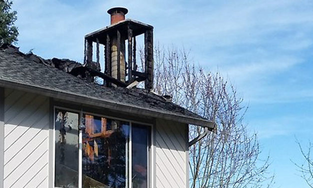 One safe after chimney fire hits East Hill home Monday