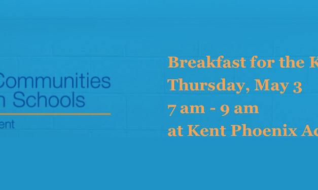 Communities in Schools Kent's 'Breakfast for the Kids' will be May 3