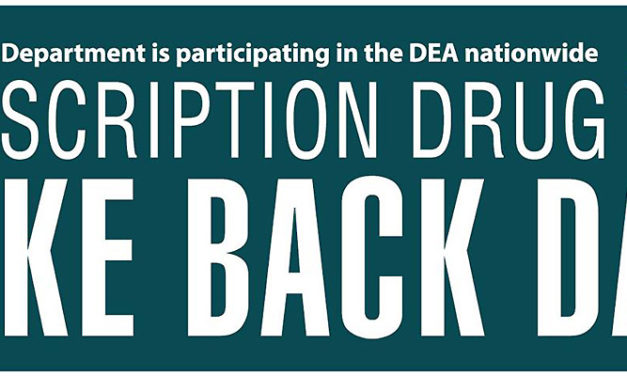National Prescription Drug Take Back Day will be Saturday, Oct. 27
