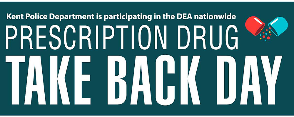 'Prescription Take Back Day' will be at Kent P.D. on Saturday, Oct. 26
