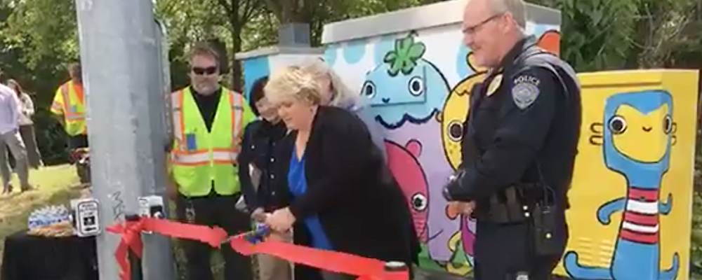 VIDEO: Ribbon cut for new Traffic Signal Controller Box Art Wraps