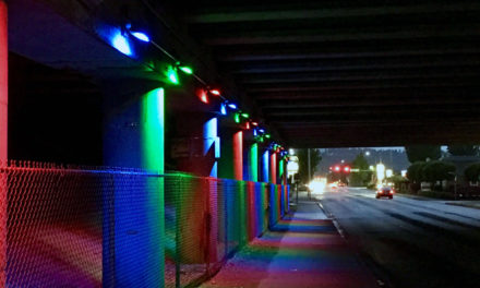 VIDEO: Watch the lighting up of new art installation at Meeker Street underpass