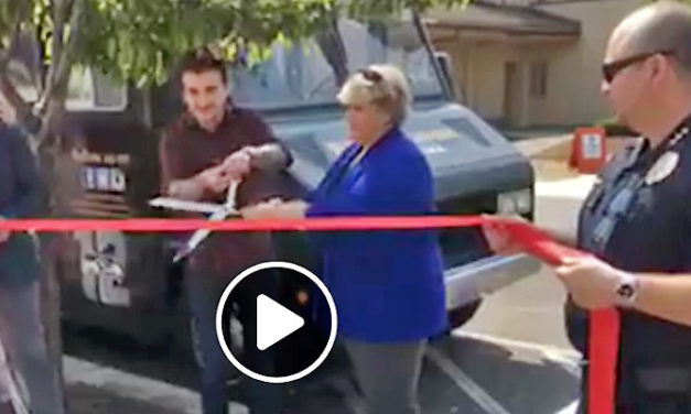 VIDEO: Food Truck Ribbon Cutting at Town Square Plaza Wednesday