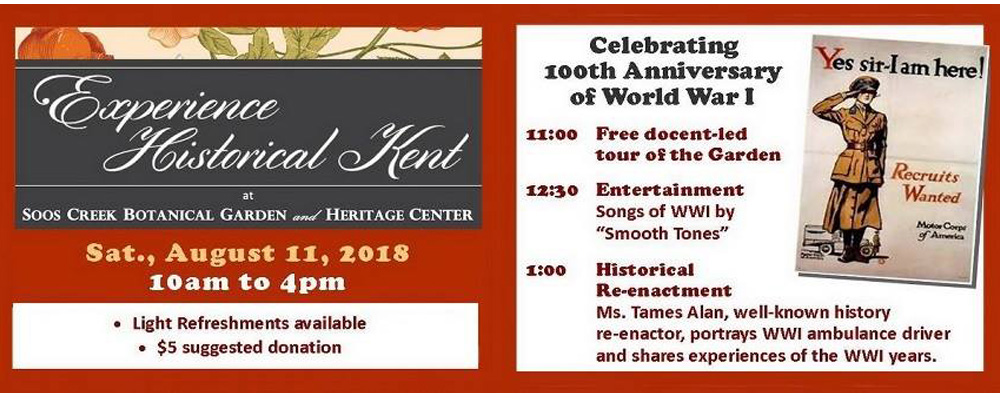 Learn about women in World War 1 at Soos Creek Aug. 11