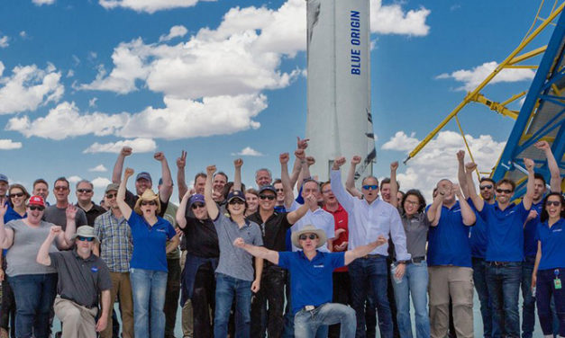 Blue Origin rocket built in Kent blasts off to another milestone Wed.