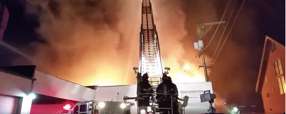 Multi-alarm fire hits downtown Kent early Wednesday