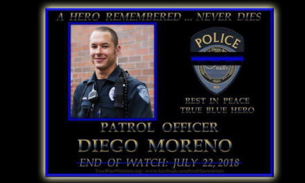 Vigil to honor fallen Kent Police Officer Moreno will be Wed. night