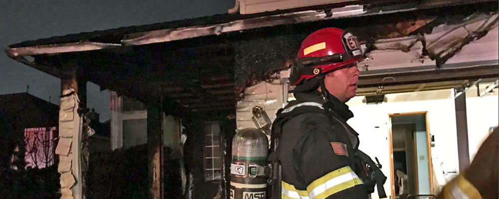 Fire burns home in Kent Saturday night