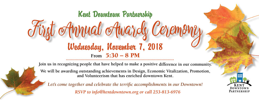Kent Downtown Partnership Awards Event will be Wed. Nov. 7