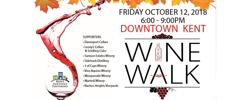 REMINDER: Kent Downtown Partnership's Wine Walk is this Friday!