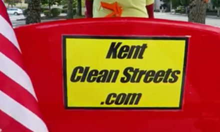 VIDEO: For cleaning up Kent, Tom Burkley is a hero