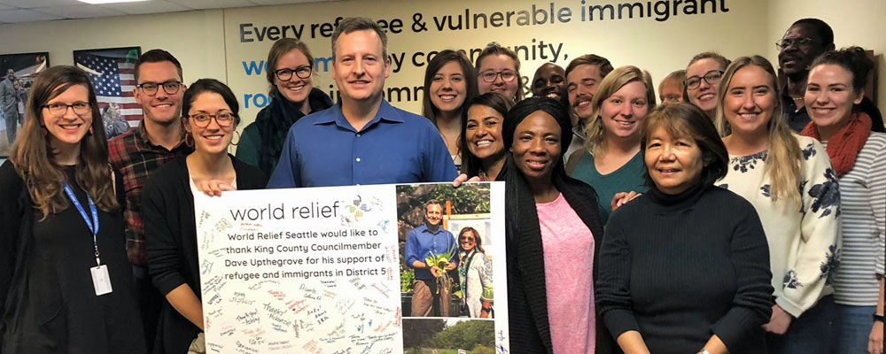 King County Councilmember Dave Upthegrove visits World Relief